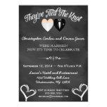 Post Wedding Trendy Chalkboard Invitation 13 Cm X 18 Cm Invitation Card