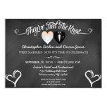 Post Wedding Trendy Chalkboard Invitation
