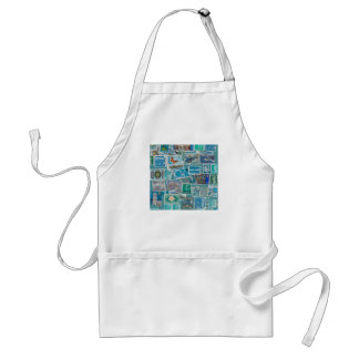 Postage Bleu Collection Standard Apron