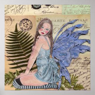Postage Fairy Art Print