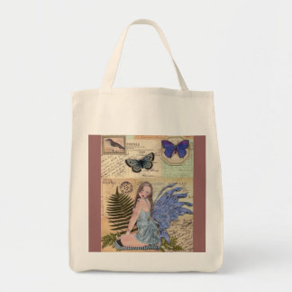 Postage Fairy Custom Grocery Tote Bag