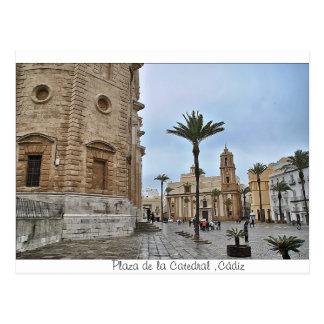 Postal de Plaza de la Catedral Cádiz