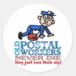 Postal Epitaph Classic Round Sticker