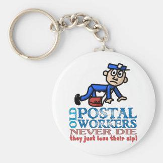 Postal Epitaph Keychains
