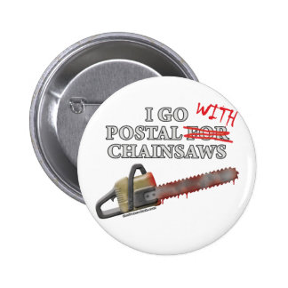 Postal For Chainsaws 6 Cm Round Badge