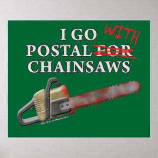 Postal For Chainsaws Print
