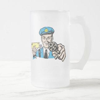 Postal Frosted Glass Beer Mug