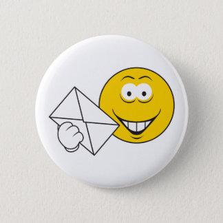 Postal Mailman Smiley Face 6 Cm Round Badge