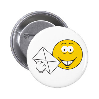 Postal Mailman Smiley Face 6 Cm Round Badge