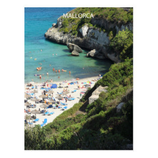 postal Majorca beach Postcard