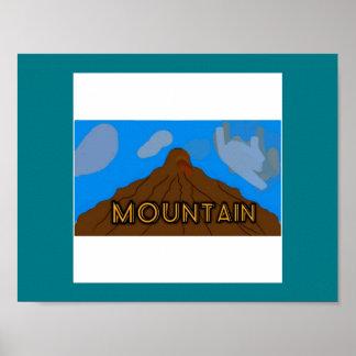 Postal mountain views poster