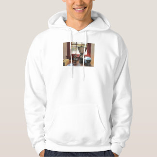 Postal Scale and Rubber Stamps Hooded Pullover