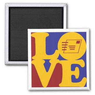 Postal Service Love Square Magnet