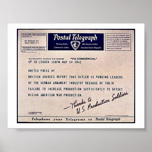 Postal Telegraph Print