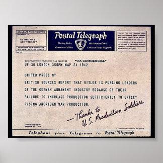 Postal Telegraph Poster