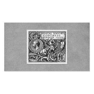 Postal Union Congress 1929 1 Pound Postage Stamp Pack Of Standard Business Cards