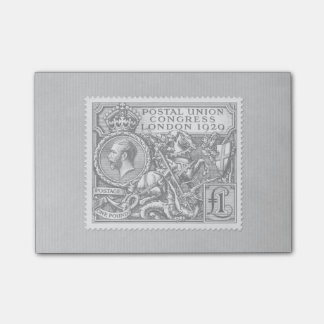 Postal Union Congress 1929 1 Pound Postage Stamp Post-it Notes
