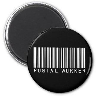 Postal Worker Bar Code 6 Cm Round Magnet