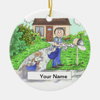 Postal Worker - Female Christmas Ornament
