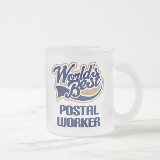 Postal Worker Gift (Worlds Best) Frosted Glass Coffee Mug