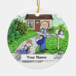 Postal Worker - Male Christmas Ornament