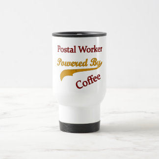 Postal Worker Powered By Coffee Travel Mug