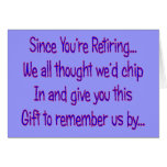 Postal Worker Retirement Card---