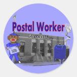 Postal Worker Sock Monkey Stickers