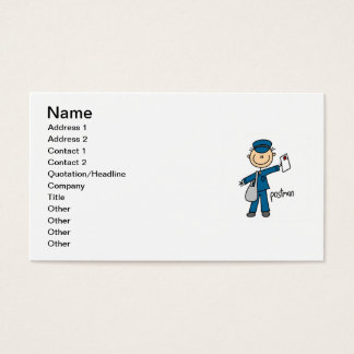 Postal Worker Stick Figure
