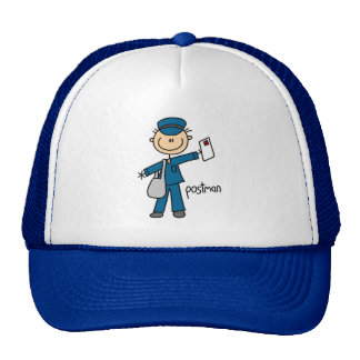 Postal Worker Stick Figure Cap
