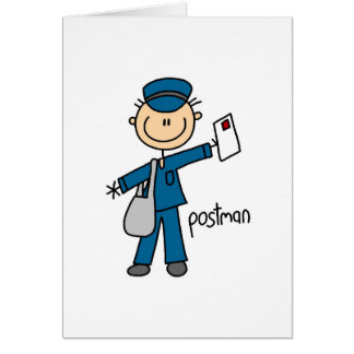 Postal Worker Stick Figure Card