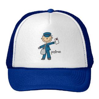 Postal Worker Stick Figure Mesh Hat