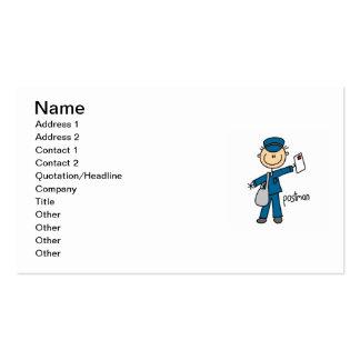 Postal Worker Stick Figure Pack Of Standard Business Cards