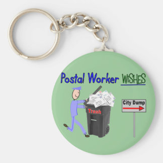 Postal Worker Wishes--Funny Key Ring