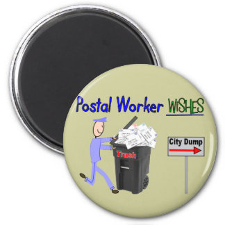 Postal Worker Wishes--Funny Magnet