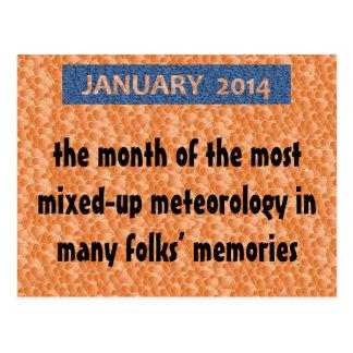 "POSTCARD14.01.1.JANUARY FUN ""Wacky Winter Weather"" Postcard"