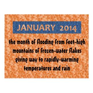 "POSTCARD14.01.7.JANUARY FUN ""Wacky Winter Weather"" Postcard"
