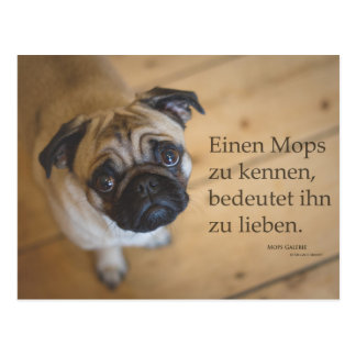 "Postcard ""a pug to know…."