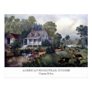 Postcard - AMERICAN HOMESTEAD: Summer