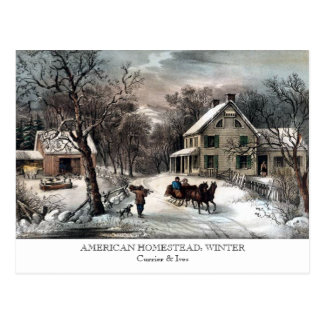 Postcard - AMERICAN HOMESTEAD: Winter