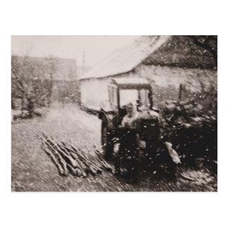 """Postcard """"April Snowstorm"""""""