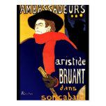 Postcard: Aristide Bruant by Toulouse-Lautrec