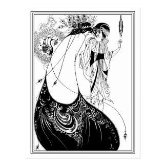 Postcard Aubrey Beardsley - The Peacock Skirt