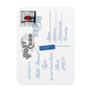 Postcard Backside Flexible Photo Magnet
