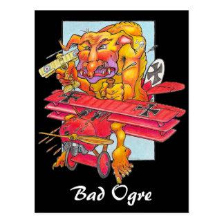 Postcard - Bad Ogre - black background