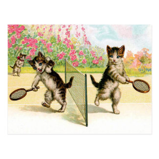 Postcard: Badminton Kittens Vintage Art Postcard