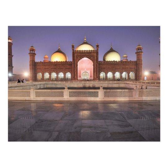 Postcard Badshahi Mosque in Lahore, Pakistan