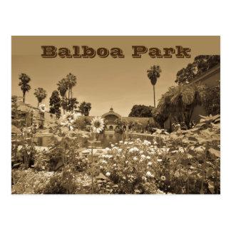 Postcard Balboa Park Sepia Tone