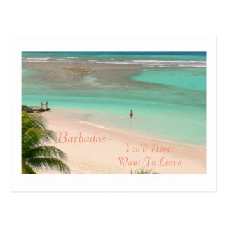 POSTCARD, BARBADOS--YOU'LL NEVER WANT TO LEAVE! POSTCARD