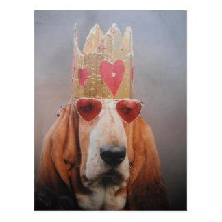 Postcard Basset Hound King
